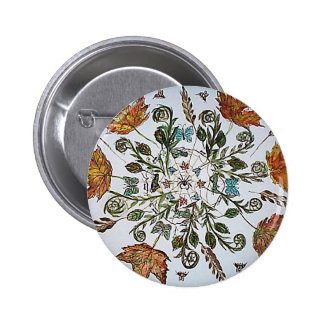 Spider Web - Spider - Ants and Bees 6 Cm Round Badge