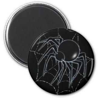 SPIDER WEB & SPIDER by SHARON SHARPE 6 Cm Round Magnet