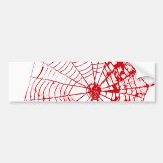 Spider Web The MUSEUM Zazzle Red Web Bumper Sticker