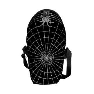 Spider Web Vintage Graphic Creepy Spider Messenger Bag