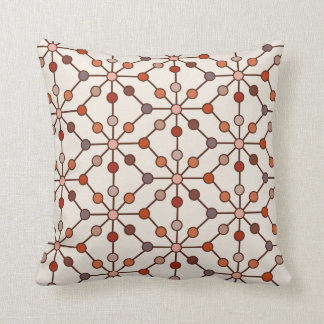 Spider Wheel Dots Burnt Reds Reversible Cushion