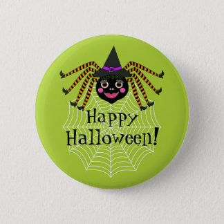Spider Witch Happy Halloween 6 Cm Round Badge