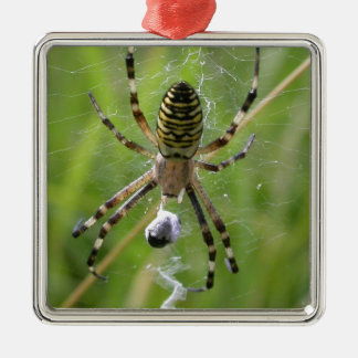 Spider with prey christmas ornament