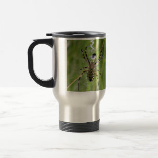 Spider with prey travel mug
