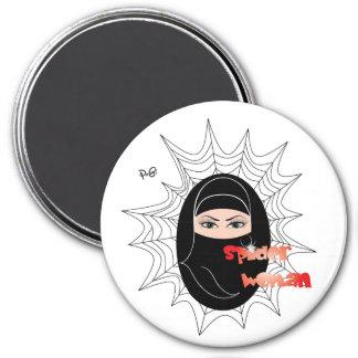 Spider woman/magnet 7.5 cm round magnet