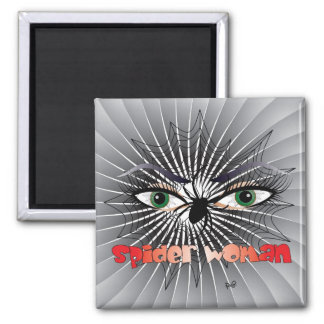 Spider woman/magnet square magnet