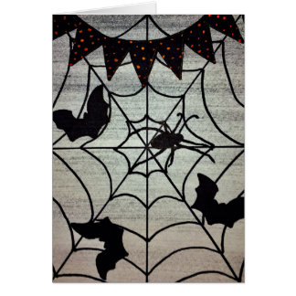 Spiders and Bats Halloween Card