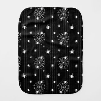 Spiders and web background burp cloth