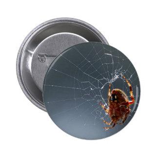 Spiders Bugs Spiderwebs 6 Cm Round Badge
