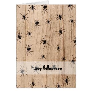 Spiders Halloween Greeting Card