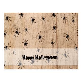 Spiders Halloween Postcard