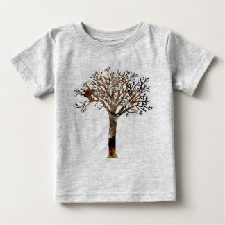 Spiders In Tree Stump T-shirt