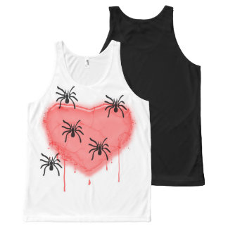 spiders love All-Over print tank top
