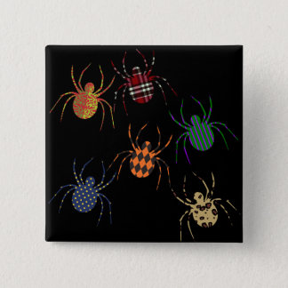 Spiders 'N Patterns 15 Cm Square Badge