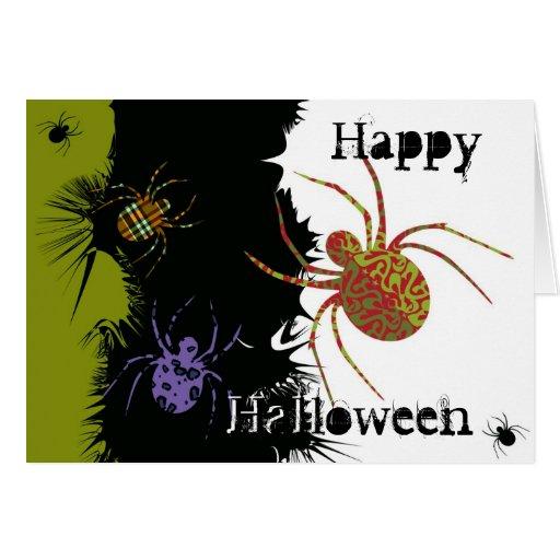 Spiders 'N Patterns Greeting Card
