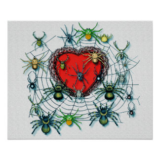 Spiders On My Heart Canvas Print