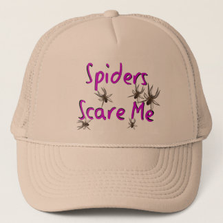 """Spiders Scare Me"" T-shirts and Gifts Trucker Hat"