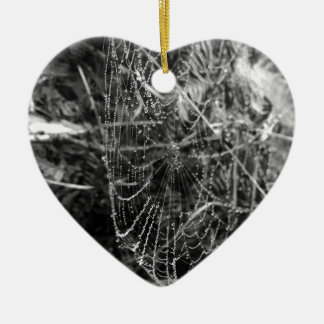 Spiders Web Ceramic Heart Decoration