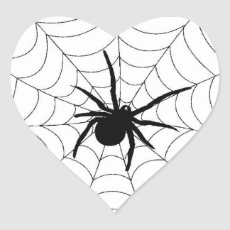 Spiders Web - Heart Stickers