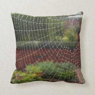 Spiders web photo art cushion