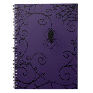 Spider's Web Spiral Notebook