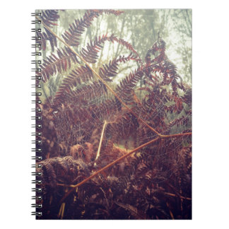 Spiders web spiral notebook