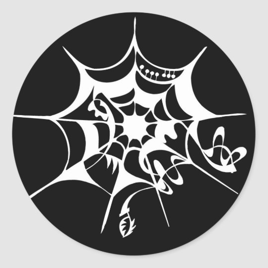 Spiderweb cobweb classic round sticker