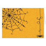 SPIDERWEB WITH SLINGING SPIDER GREETING CARDS