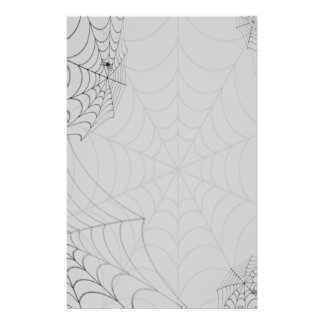 Spiderwebs Halloween Spiders Stationery