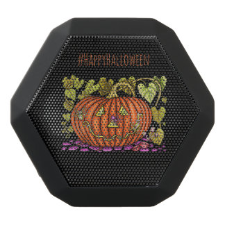 Spidery Jack O'Lantern Black Bluetooth Speaker