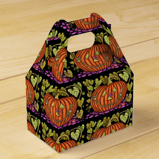 Spidery Jack O'Lantern Favour Box
