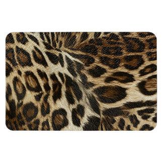 Spiffy Leopard Spots Leather Grain Look Rectangular Photo Magnet