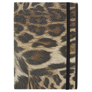"Spiffy Leopard Spots Leather Grain Look iPad Pro 12.9"" Case"