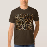 Spiffy Leopard Spots Leather Grain Look Tshirts