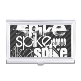 Spike; Black & Dark Gray Stripes Business Card Cases