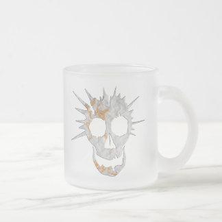 spike frosted glass mug