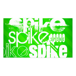 Spike; Neon Green Stripes Double-Sided Standard Business Cards (Pack Of 100)