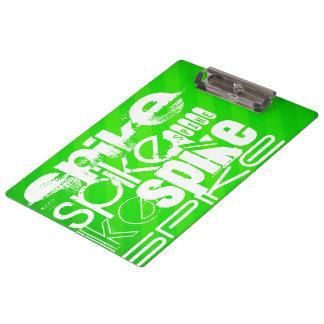 Spike; Neon Green Stripes Clipboards
