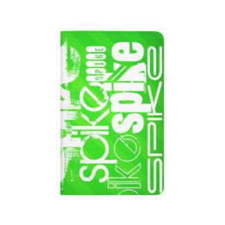Spike; Neon Green Stripes Journals