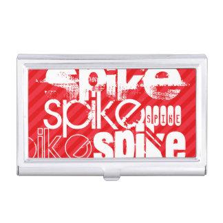 Spike; Scarlet Red Stripes Business Card Holders
