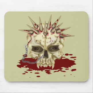 Spike Skull Mouse Pad