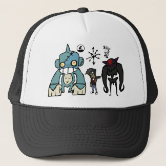 Spike, Squidy, and Rilla Trucker Hat