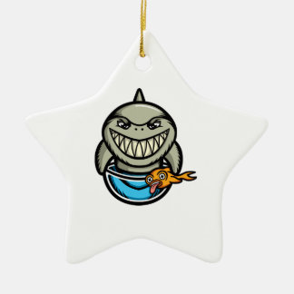 Spike the Shark Ceramic Star Decoration