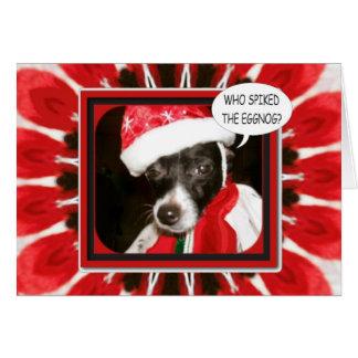 Spiked Eggnog Dog Greeting Card