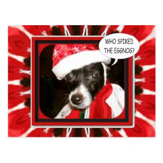 Spiked Eggnog Dog Postcard
