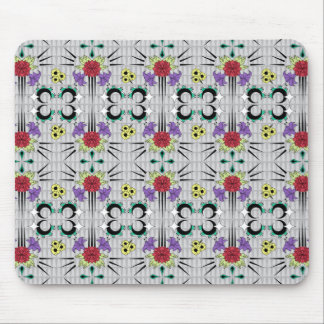 Spiked Floral Mouse Pad