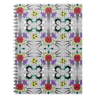 Spiked Floral Spiral Notebooks