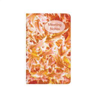 Spiked Leaves Pocket Journal - Orange