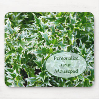 Spiked Leaves Texture Mousepad - Green