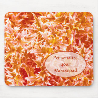 Spiked Leaves Texture Mousepad - Orange